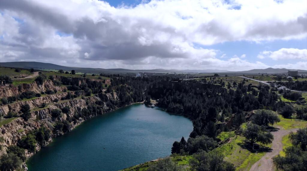Open cut mine in Burra, South Australia.