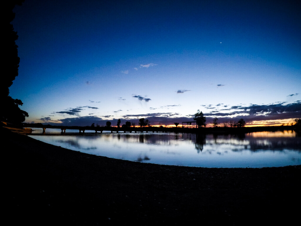 Sunset in Port Wakefield, South Australia.
