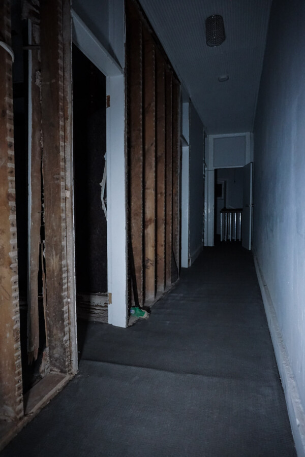 haunted hallway in Mount Remarkable Hotel, South Australia.