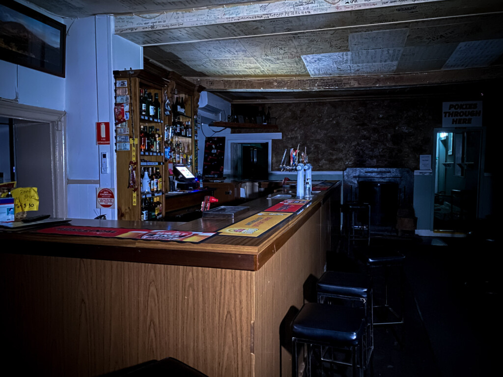 haunted front bar of pub.